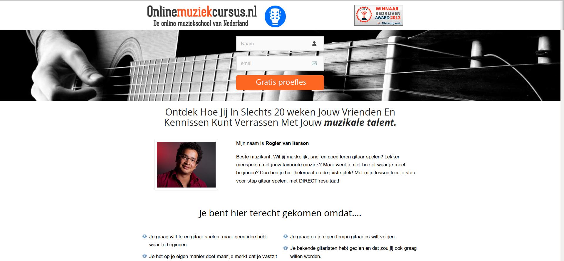 gitaarcursus onlinemuziekcursus.nl